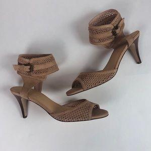 J. Crew Jemaa midheel sandal die cut suede khaki